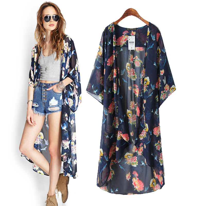 Euramerican-Kimono-Jacket-Femme-Printing-Long-Section-Camisa-Feminina-Loose-Irregular-Sleeve-font-b-Cardigan-b